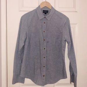 J. CREW Cotton 'Perfect' Button Down Shirt Size 8